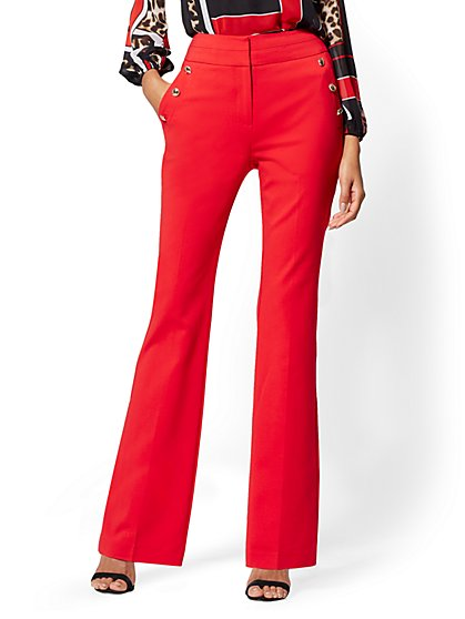 Petite Barely Bootcut Pant - High-Rise - All-Season Stretch - 7th Avenue - New York & Company