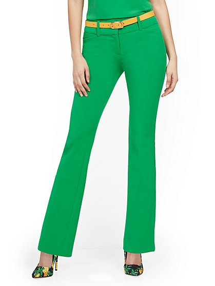 Petite Barely Bootcut Pant - Mid Rise - Double Stretch - 7th Avenue - New York & Company