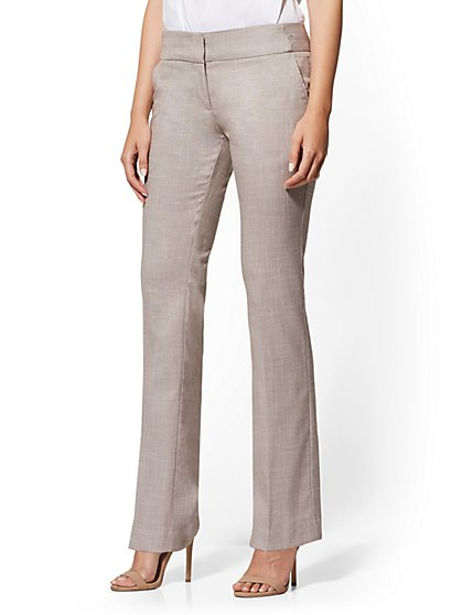 Petite Barely Bootcut Pant - Modern - Tan - 7th Avenue - New York & Company