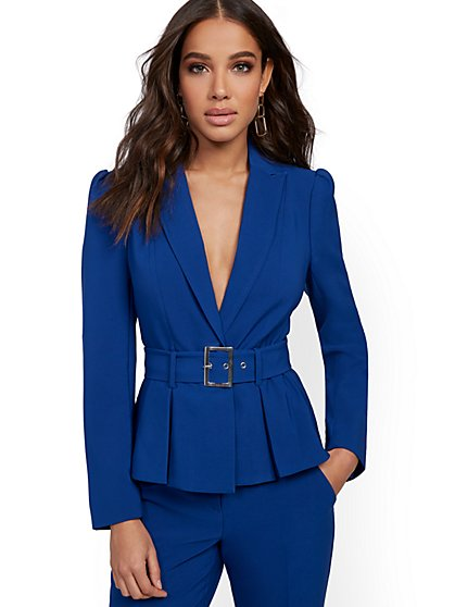 Petite Belted Jacket - 7th Avenue - New York & Company