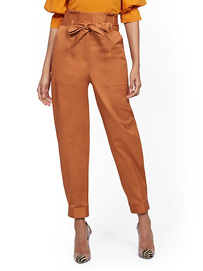 Petite Belted Paperbag-Waist Pant - 7th Avenue - New York & Company