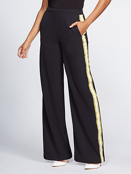 Petite Black Wide-Leg Pant - Gabrielle Union Collection - New York & Company