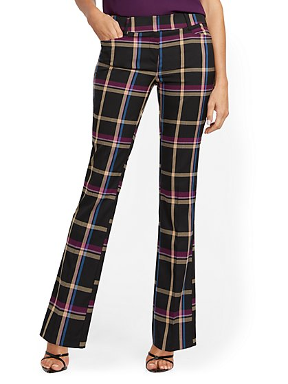 Petite Bootcut Pant - Modern Fit - Plaid - 7th Avenue - New York & Company