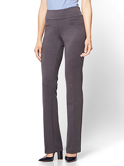 Petite Bootcut Pull-On Pant - Signature Fit - Ponte - 7th Avenue - New York & Company