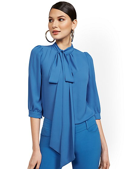 Petite Bow Blouse - 7th Avenue - New York & Company