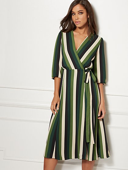 Petite Brenda Wrap Dress - Eva Mendes Collection - New York & Company