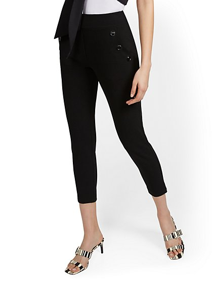 Petite Button-Pocket Ankle Pant - New York & Company