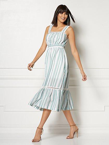 49f8688656c Petite Cameron White Stripe Maxi Dress - Eva Mendes Collection - New York    Company ...