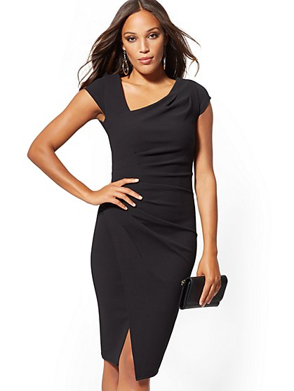 Petite Cap Sleeve Sheath Dress - New York & Company