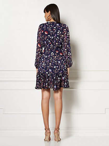 7f379acdc8a ... Petite Cassidy Navy Floral Wrap Dress - Eva Mendes Collection - New  York   Company