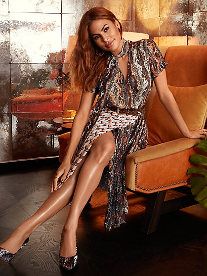 Petite Cassie Wrap Dress - Eva Mendes Collection - New York & Company