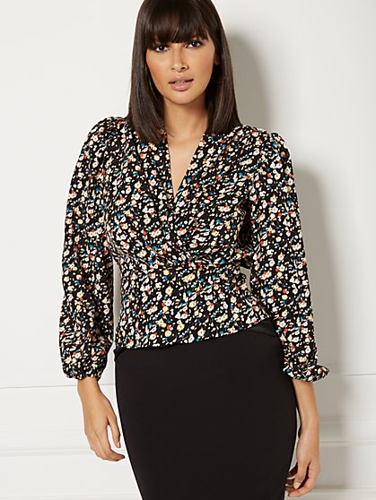 Petite Charlotte Wrap Blouse - Eva Mendes Collection - New York & Company