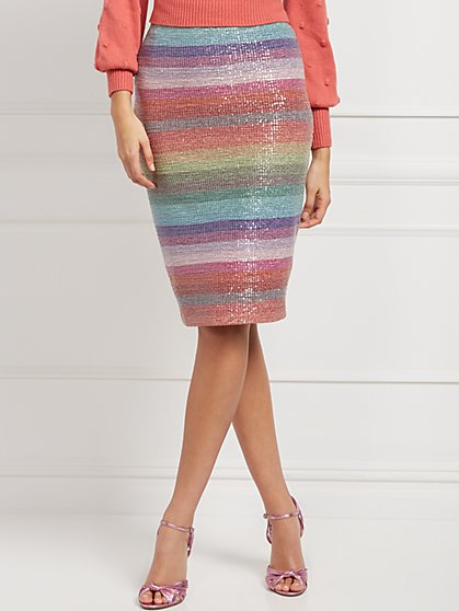 Petite Cher Sequin Skirt - Eva Mendes Collection - New York & Company