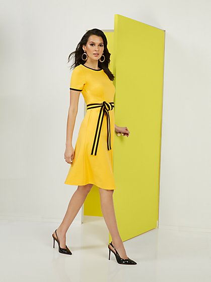 Petite Colorblock Ponte Dress - Superflex - New York & Company