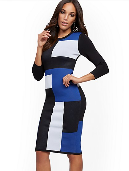 Petite Colorblock Sweater Dress - New York & Company