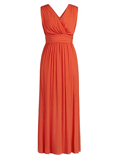 Petite Crinkle Maxi Dress - New York & Company