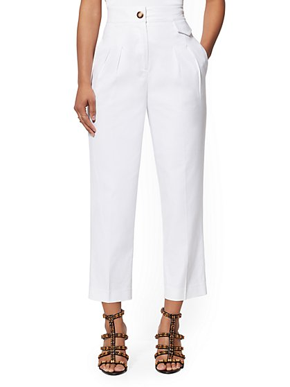 Petite Crop Straight Leg Pant - Signature Fit - 7th Avenue - New York & Company