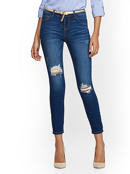 Petite Destroyed Ankle Legging- NY&C Runway - Ultimate Stretch - Soho Jeans - New York & Company