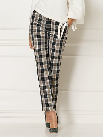 Petite Elise Plaid Pant - Eva Mendes Collection - New York & Company
