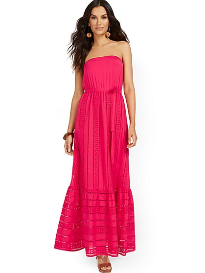 Petite Eyelet Maxi Dress - New York & Company