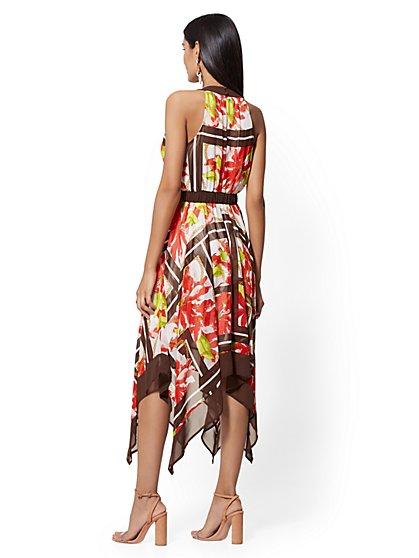eb459bc6265 ... Petite Floral   Link Print Handkerchief-Hem Halter Dress - New York    Company