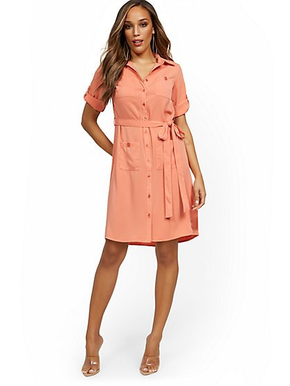 Petite Four-Pocket Shirtdress - New York & Company
