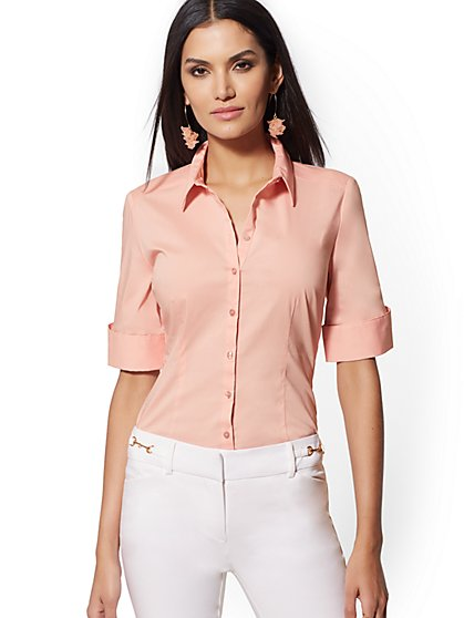 Petite French Cuff Madison Stretch Shirt - 7th Avenue - New York & Company