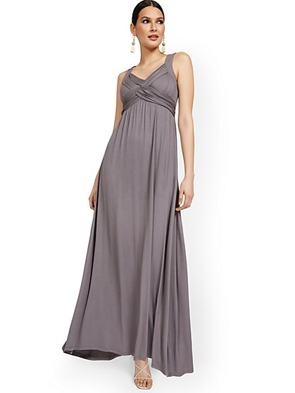 Petite Goddess Maxi Dress - New York & Company