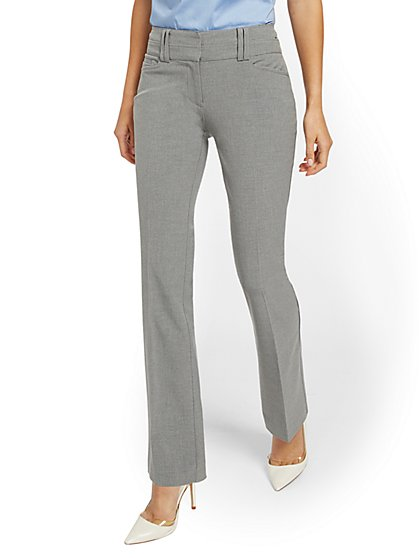 Petite Grey Bootcut Pant - Modern - SuperStretch - 7th Avenue - New York & Company