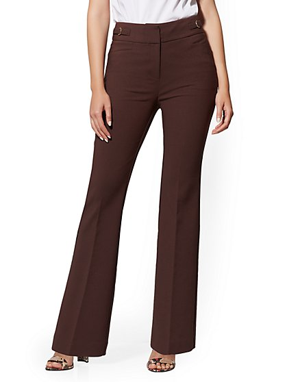 Petite High-Waist Bootcut Pant - All-Season Stretch - 7th Avenue - New York & Company