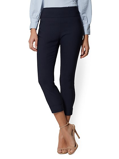 Petite High-Waist Pull-On Crop Pant - New York & Company