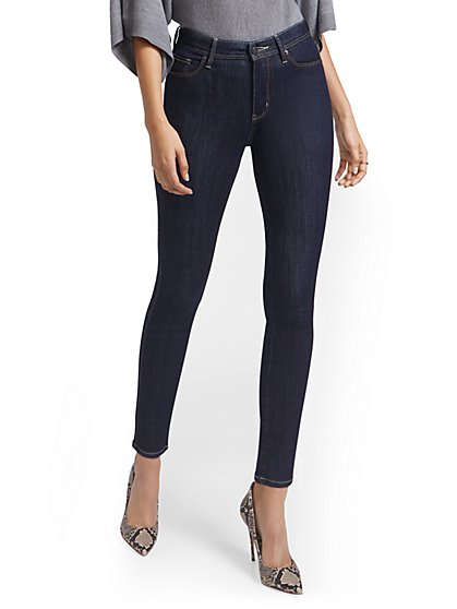 Petite Lexi High-Waisted Super-Skinny Ankle Jeans - New York & Company