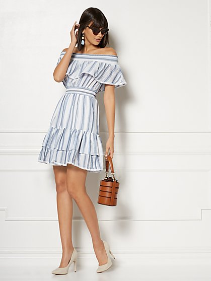 Petite Madelyn Off-The-Shoulder Midi Dress - Eva Mendes Collection - New York & Company