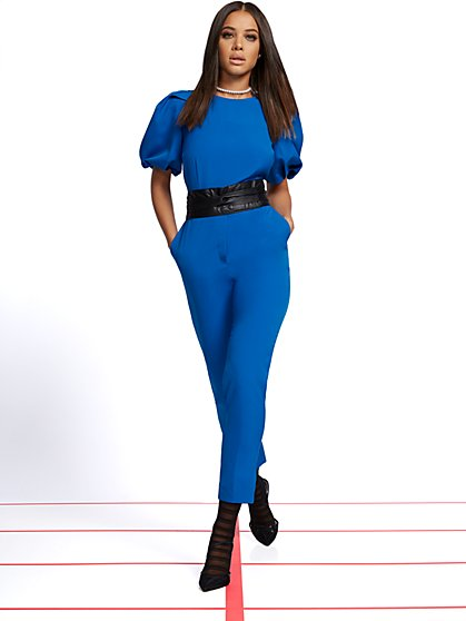 Petite Madie Belted Jumpsuit - 7th Avenue - New York & Company