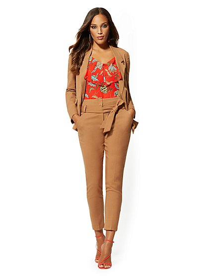 Petite Madie Pant - Camel - 7th Avenue - New York & Company