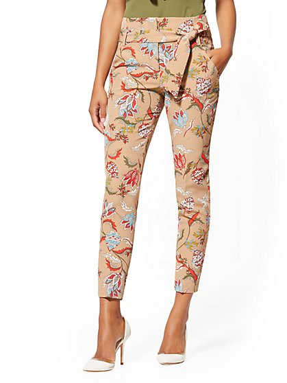 Petite Madie Pant - Floral & Paisley - 7th Avenue - New York & Company
