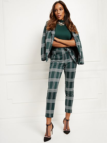 Petite Madie Pant - Plaid - 7th Avenue - New York & Company