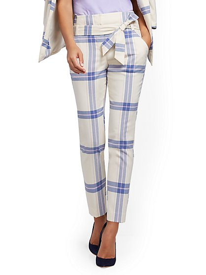 Petite Madie Pant - Plaid - New York & Company