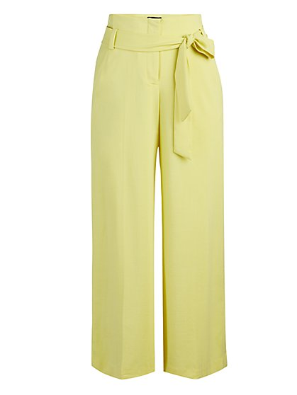 Petite Madie Wide-Leg Capri Pant - 7th Avenue - New York & Company