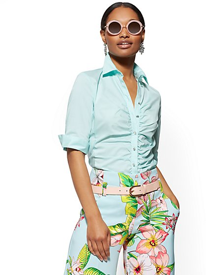 Petite Madison Stretch Shirt - 7th Avenue - New York & Company