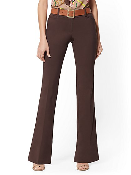 Petite Mid Rise Bootcut Pant - All-Season Stretch - 7th Avenue - New York & Company