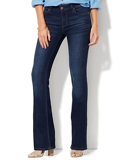 Petite Mid-Rise Instantly Slimming Curvy Bootcut Jeans - New York & Company