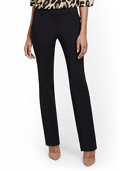 Petite Mid-Rise Modern Bootcut Pant - All-Season Stretch - 7th Avenue - New York & Company