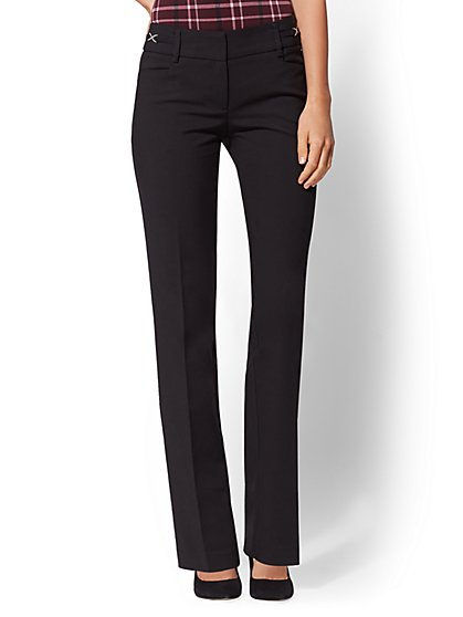 Petite Mid Rise Straight-Leg Pant - All-Season Stretch - 7th Avenue - New York & Company