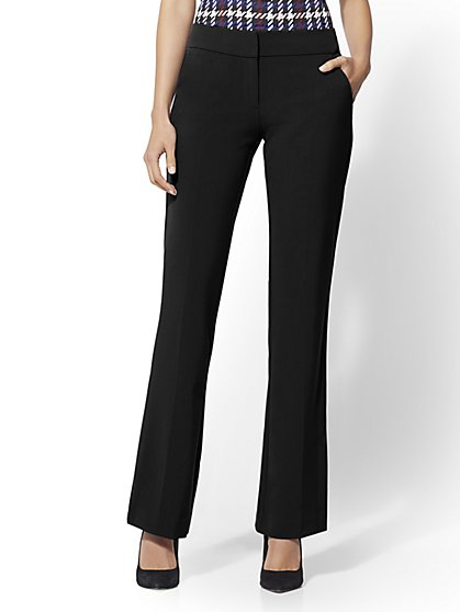 Petite Mid Rise Straight-Leg Pant - Double Stretch - 7th Avenue - New York & Company