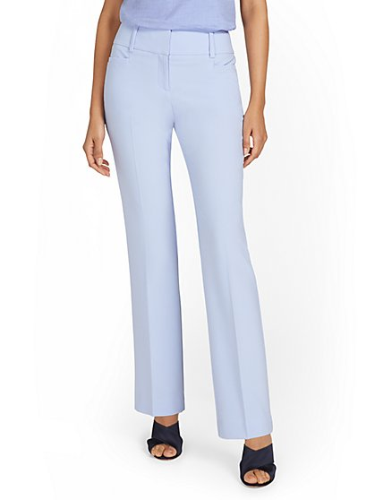 Petite Mid-Rise Straight-Leg Pant - Double Stretch - New York & Company