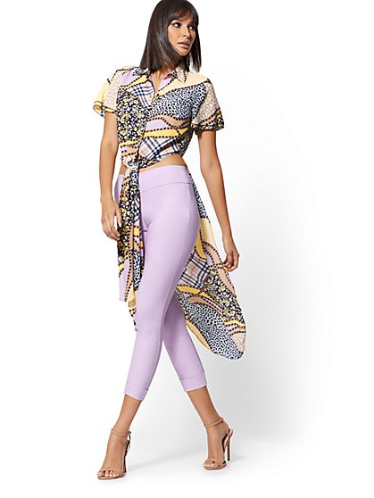 Petite Mixed-Print Maxi Shirt - New York & Company