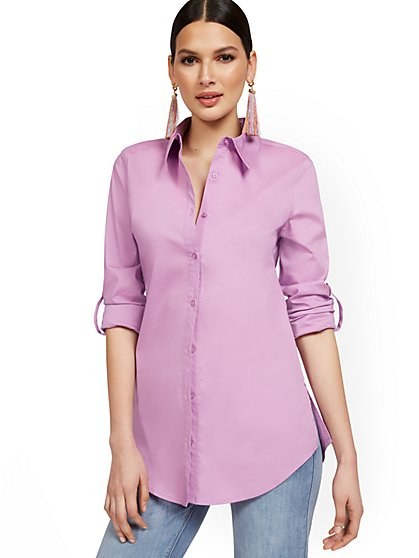 Petite Modern Madison Tunic Shirt - 7th Avenue - New York & Company