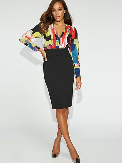 Petite Multicolor-Print Sheath Dress - Gabrielle Union Collection - New York & Company