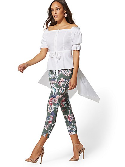 Petite Off-The-Shoulder Hi-Lo Shirt - New York & Company